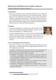 Reinhard Saal, Rehabilitation in der beruflichen Alltagswelt