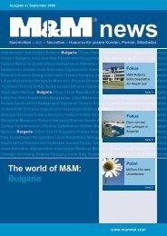 The world of M&M: Bulgaria - M&M Militzer & Münch