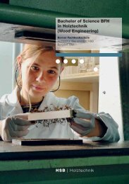 Bachelor of Science BFH in Holztechnik (Wood Engineering) - Forum ...