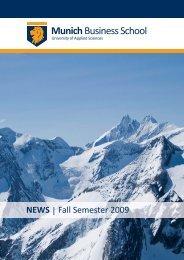 Newsletter Fall 2009 - Munich Business School