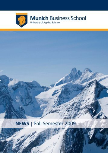 Newsletter Fall 2009 - Munich Business School