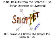 Initial Results from the SmartPET Ge Planar Detector at Liverpool