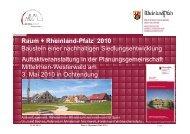 Raum+ RLP 2010 - Planungsgemeinschaft Mittelrhein-Westerwald