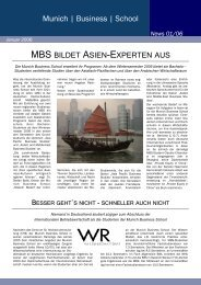 News 01/06 - Munich Business School