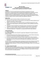 Plan de relève des membres de la haute ... - Genome Canada