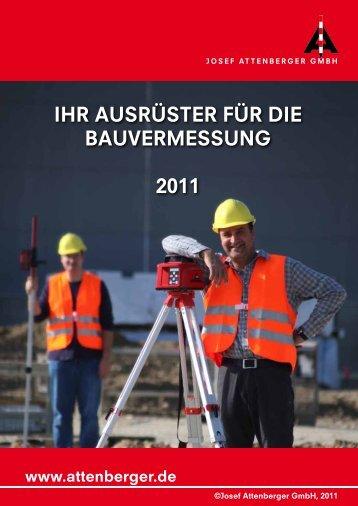 IHR AUSRÜSTER FÜR DIE BAUVERMESSUNG 2011 - CST/berger