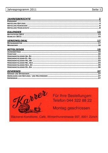 Jahresprogramm 2011 Seite 1