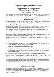 Verordnung der Gemeinde Weiherhammer über das freie ...