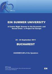 EIN SUMMER UNIVERSITY BUCHAREST - European Ideas Network