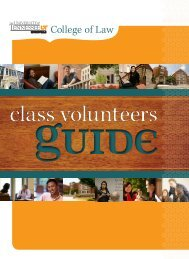 class volunteers - College of Law