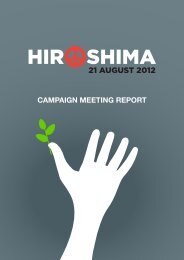 Hiroshima meeting report - International Campaign to Abolish ...