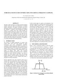 subband acoustic echo control using non-critical frequency sampling