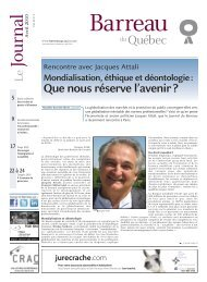 Journal du Barreau - Barreau du Québec