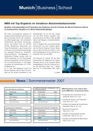 Erfolg für MBS-Teilnehmer beim internatio - Munich Business School