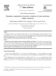 Boundary singularities of positive solutions of some nonlinear ... - lmpt