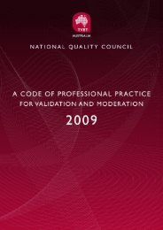 Code of Professional Practice - National Skills Standards Council