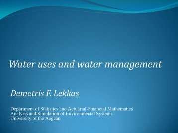 Water uses and water management