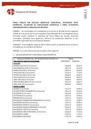 Página 1 de 10 PRECIO PÚBLICO POR ESCUELAS DEPORTIVAS ...
