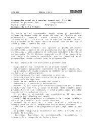 Programador anual de 4 canales (nuevo) ref. 2154 ... - Jungiberica.net
