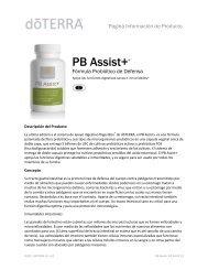 PB Assist+ Product Information Page Español - dōTERRA Tools