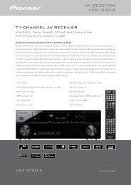 VSX-1020-K 7.1-channel aV ReceiVeR aV ReceiVeR ... - Supersonido
