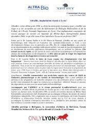 AltraBio, implantation réussie à Lyon ! AltraBio, créée début ... - Aderly