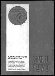 TOIMINTAKERTOMUS VUODELTA 1969