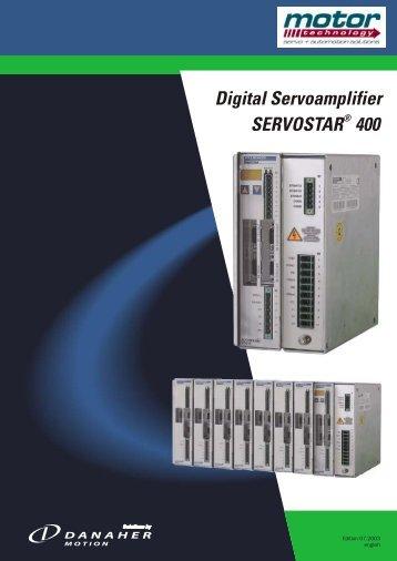 Digital Servoamplifier SERVOSTAR 400 - Motor Technology Ltd