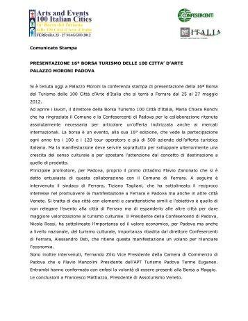 Comunicato Stampa - 100cities.it - 100cities