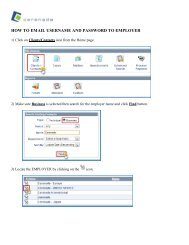 How to email a username and password to an employer - Cerenade