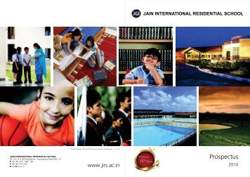 Download the Prospectus - Jain International Residential School