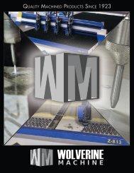 Download the Water Jet Cutting Brochure (PDF) - Wolverine Machine