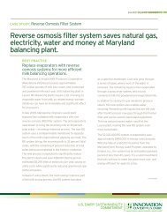 Reverse Osmosis Filter System - Innovation Center for US Dairy