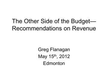 Session 4 - Greg Flanagan - Institute for Public Economics