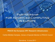 PRACE aisbl - Barcelona Supercomputing Center