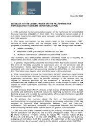 Feedback document - European Banking Authority