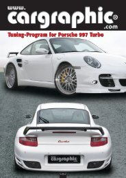 Tuning-Program for Porsche 997 Turbo - Cargraphic