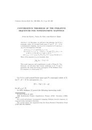 CONVERGENCE THEOREMS OF THE ITERATIVE SEQUENCES ...
