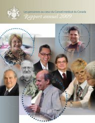 apport annuel 2009 - Medical Council of Canada