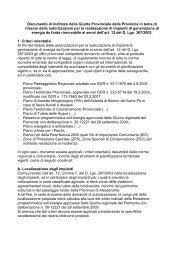 Linee di indirizzo per il rilascio delle autorizzazioni per la ...