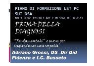 PRIMA DELLA DIAGNOSI - USP di Piacenza