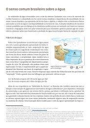 O senso comum Brasileiro sobre a agua