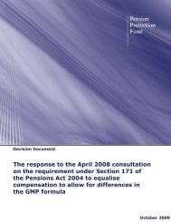The response to the April 2008 consultation on the requirement ...