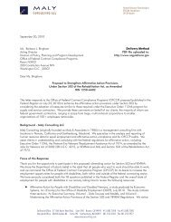 Public Comment Letter Sec 503 and VEVRAA 20 Sep 10 - Maly ...