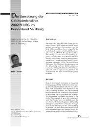 Die Umsetzung der Gebäuderichtlinie 2002/91/EG ... - bauen innovativ