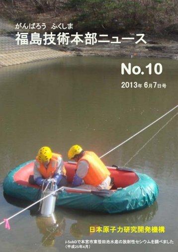 福島技術本部ニュース第10号を発行 - 独立行政法人 日本原子力研究 ...