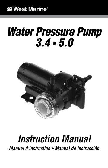 Water Pressure Pump 3.4 • 5.0 - West Marine
