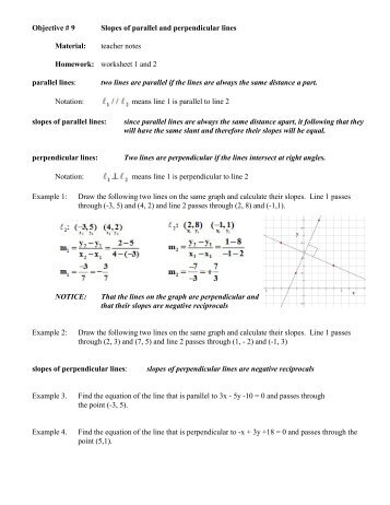 Printables Parallel And Perpendicular Lines Worksheet Answer Key slopes of parallel and perpendicular lines worksheet davezan practice 3 7 answer key
