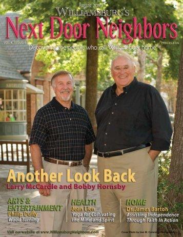 August - Williamsburg , VA Magazine , Next Door Neighbors