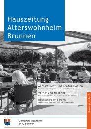 Hauszeitung Alterswohnheim Brunnen